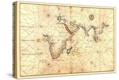 Portolan Map of Africa, the Indian Ocean and the Indian Subcontinent
