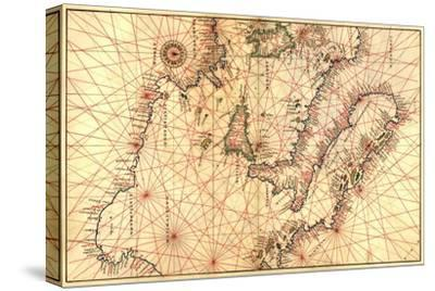 Portolan Map of Italy, Sicily, North Africa and the Mediterranean