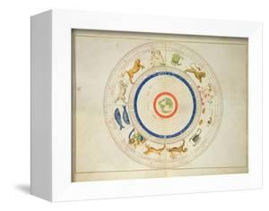 Zodiac Calendar, from an Atlas of the World in 33 Maps, Venice, 1st September 1553 by Battista Agnese