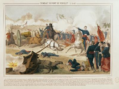 Battle at the Pont De Neuilly, 2nd April 1871--Giclee Print