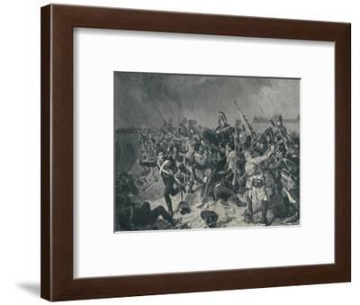 'Battle at Znaim, July 11, 1809', (1896)-M Haider-Framed Giclee Print