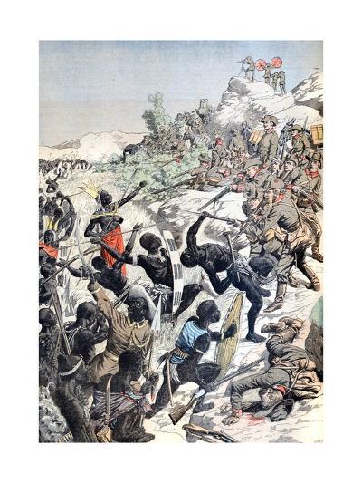 Battle Bet Herero and German Colonials Windhoek Namibia (Feb 1904)--Giclee Print