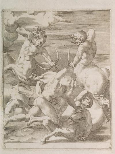 Battle Between Hercules and Centaurs, 1527-Gian Jacopo Caraglio-Giclee Print