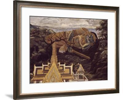 Battle Between Rama and Ravana--Framed Photographic Print