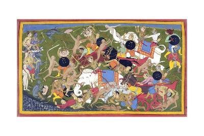 Battle Between the Armies of Rama and the King of Lanka--Giclee Print