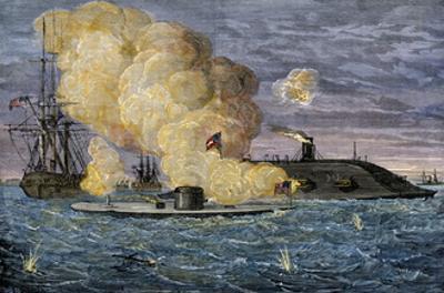 Battle Between the Monitor and the Merrimac, Hampton Roads, 1862