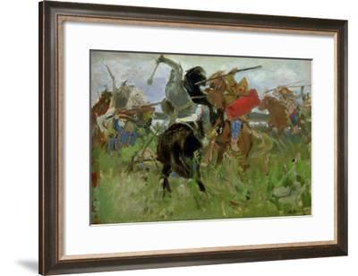 Battle Between the Scythians and the Slavonians, 1879-Victor Mikhailovich Vasnetsov-Framed Giclee Print