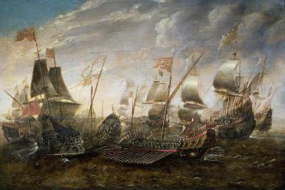 Battle Between the Spanish and Barbary Pirates-Sebastian D. Castro-Giclee Print
