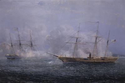 Battle Between the Uss Kearsarge and Css Alabama-Xanthus Robert Smith-Giclee Print