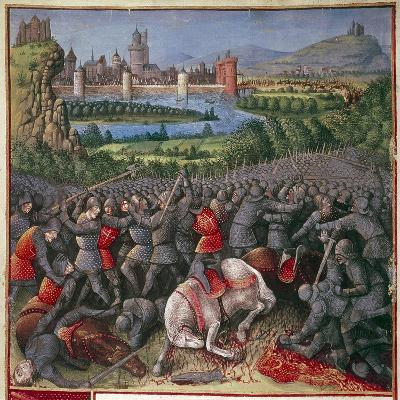 Battle During First Crusade (People's Crusad), 1096-1099-Sebastian Marmoret French-Giclee Print