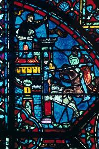 Battle for a City, Stained Glass, Chartres Cathedral, France, C1225