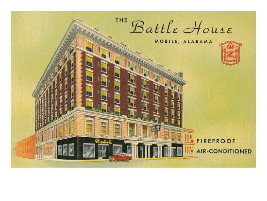 Battle House Hotel, Mobile, Alabama--Art Print