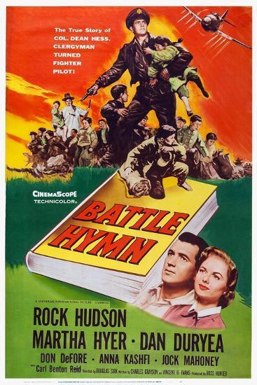 Battle Hymn, Bottom from Left: Rock Hudson, Martha Hyer, 1957--Art Print