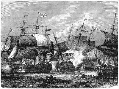 Battle of Abukir Bay, August 1798--Giclee Print