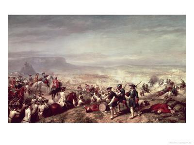 Battle of Almansa Between the Troops of Philip V-Ricardo Balaca Y Canseco-Giclee Print