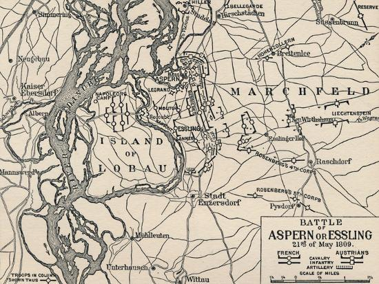 'Battle of Aspern or Essling, 21st of May 1809', (1896)-Unknown-Giclee Print