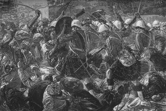 'Battle of Baba Wali: The Highlanders Clearing a Village', c1880-Unknown-Giclee Print