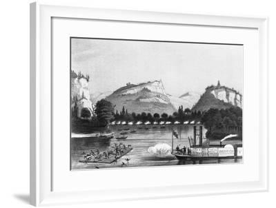 Battle of Bad Axe Illustration--Framed Photographic Print