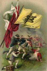 Battle of Bunker Hill with Gadsden Flag, 1899