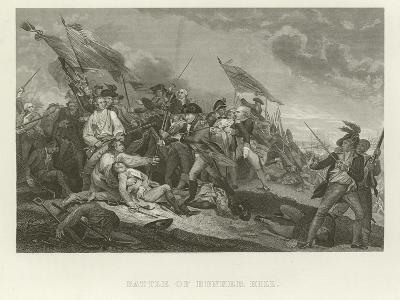 Battle of Bunker Hill-John Trumbull-Giclee Print