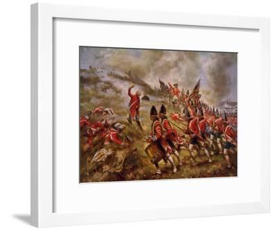 Battle of Bunker Hill-Percy Moran-Framed Art Print