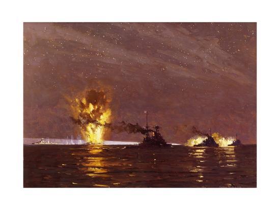 Battle of Cape Matapan, March 28, 1941, World War II, Greece--Giclee Print