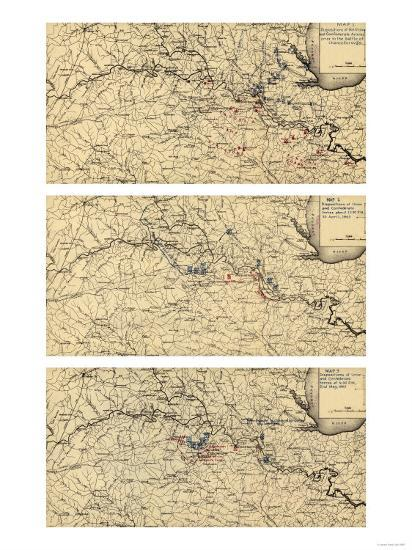 Battle of Chancellorsville - Civil War Panoramic Map-Lantern Press-Art Print