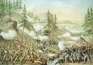 Battle of Chattanooga, 23rd November, 1863, Engraved by Kurz and Allison, 1888