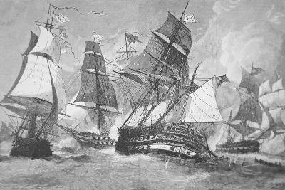 Battle of Chesapeake Bay-Julian Oliver Davidson-Giclee Print