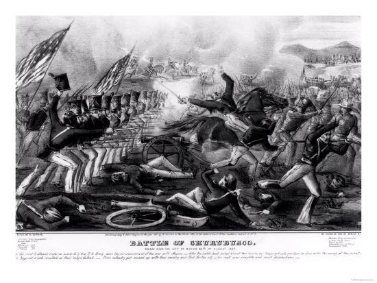 Battle of Churubusco, Fought Near the City of Mexico, 20th August 1847--Giclee Print