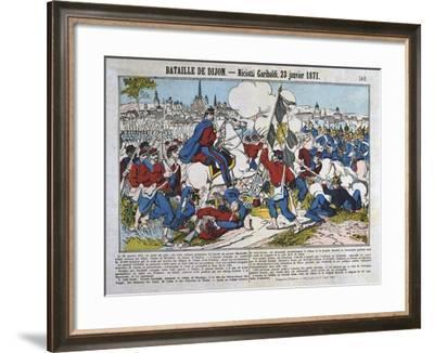 Battle of Dijon, Franco-Prussian War, January 1871--Framed Giclee Print