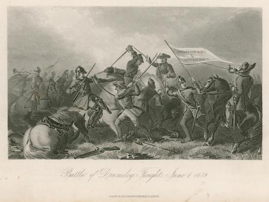Battle of Drumclog, Fought, June 1, 1679--Giclee Print