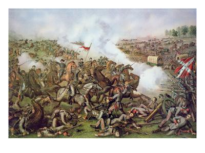Battle of Five Forks, Virginia, 1st April 1865, Engraved by Kurz and Allison, 1886-American School-Giclee Print