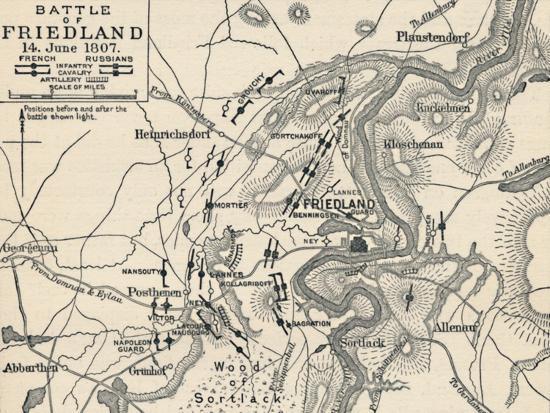 'Battle of Friedland, 14 June 1807', (1896)-Unknown-Giclee Print