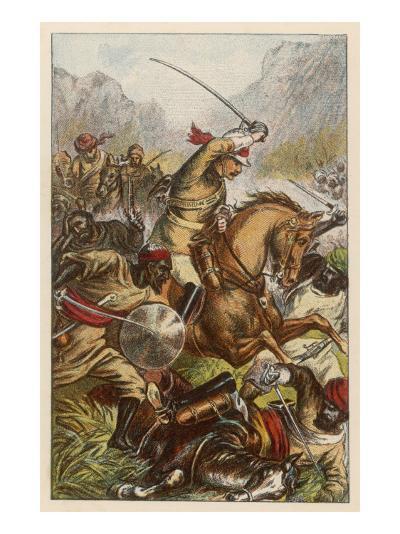 Battle of Futtehabad--Giclee Print