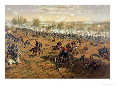 Battle of Gettysburg, 1863, Printed by L. Prang and Co., 1887-Thure De Thulstrup-Giclee Print