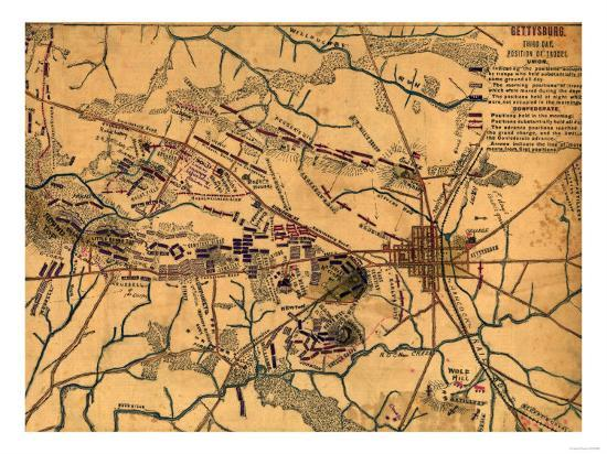 Battle of Gettysburg - Civil War Panoramic Map Art Print by Lantern on gettysburg map day 3, map of troy trojan war, gettysburg map day 2, gettysburg day 1, gettysburg pa area map, gettysburg on map, gettysburg battle, gettysburg maps printable, gettysburg campaign, gettysburg pennsylvania map, gettysburg map 1863,