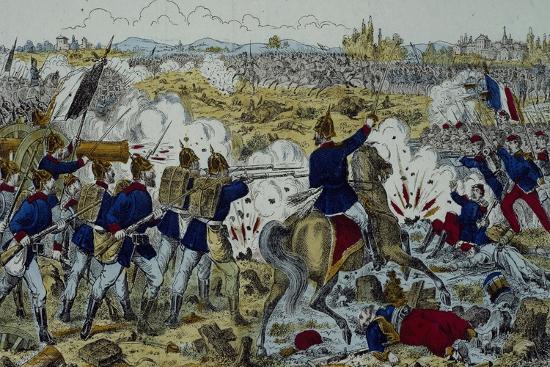 Battle of Gravelotte, August 18, 1870--Giclee Print