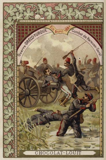 Battle of Karavan-Serai, Greco-Turkish War, April 1897--Giclee Print