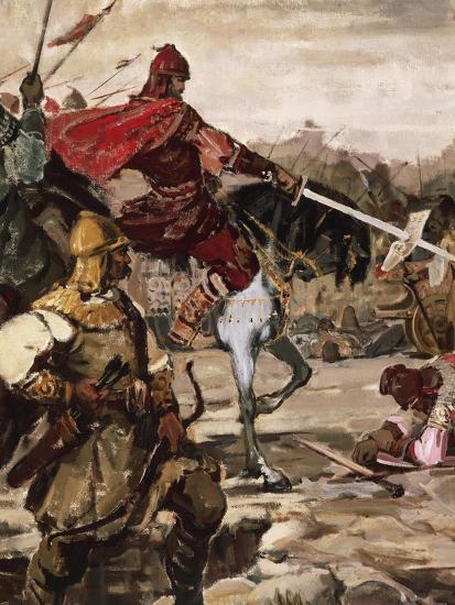Battle of Klokotnitsa March 9, 1230 Which Saw Tsar Ivan Asen II Defeat Theodore of Epirus--Giclee Print