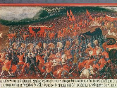 Battle of Kronenberg, Germany in C.1388--Giclee Print