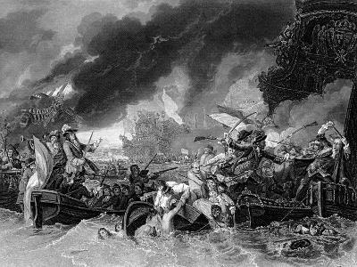 Battle of La Hogue, 19 May 1692-Benjamin West-Giclee Print