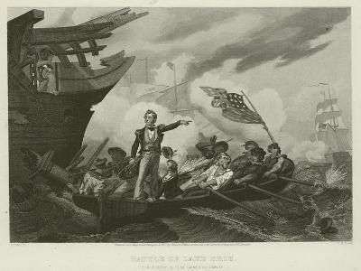 Battle of Lake Erie, 1813-William Henry Powell-Giclee Print