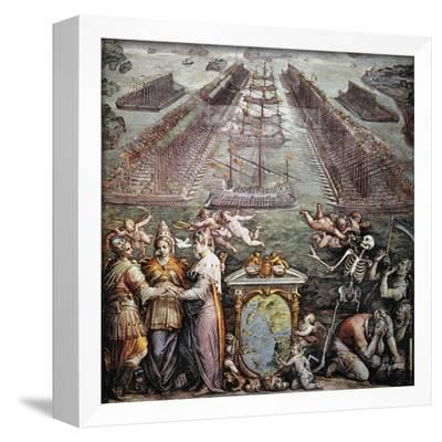 Painting Dore 1571 Battle Of Lepanto 1877 Framed Print 9x7 Inch