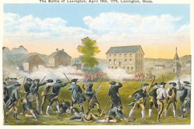Battle of Lexington, Massachusetts, 1775, Painting