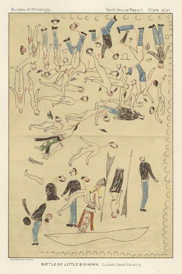 Battle of Little Big Horn - Custer's Dead Cavalry--Giclee Print