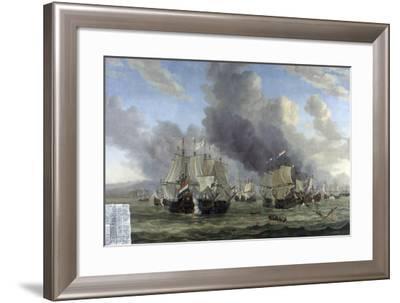 Battle of Livorno, Reinier Nooms-Reinier Nooms-Framed Art Print