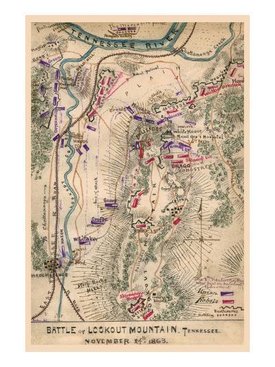 Battle of Lookout Mountain--Art Print