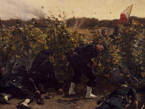 Battle of Malmaison, October 21, 1870, 1875-Etienne Prosper Berne-bellecour-Giclee Print