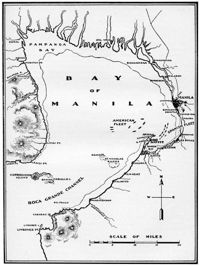 Battle of Manila Bay, Philippines, Spanish-American War, 1898--Giclee Print
